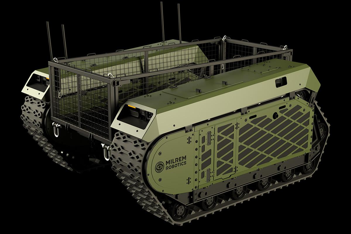 Milrem Robotics Tracked Hybrid Modular Infantry System